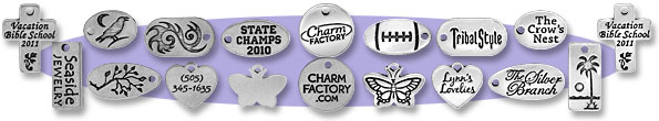 Pewter Tags and Charms