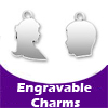 Engravable Sterling Silver Charms