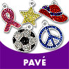 Pave Charms