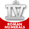 Roman Numeral Charms