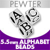 Pewter 5.5mm Beads