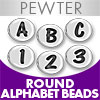 Pewter Oval Beads