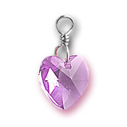 Alexandrite Swarovski Crystal Heart Charm