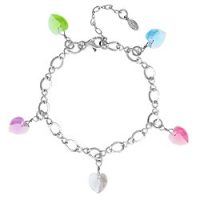 Joyful Colors Swarovski Heart Bracelet