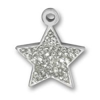 Pewter Crystal Star Charm