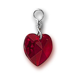 Siam Swarovski Crystal Heart Charm