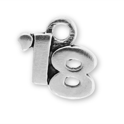 Sterling Silver 18 Year Charm