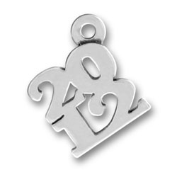Sterling Silver 2012 Charm
