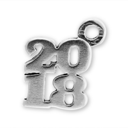 Sterling Silver 2018 Charm