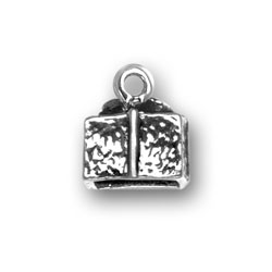 Sterling Silver 3-D Gift Box Charm