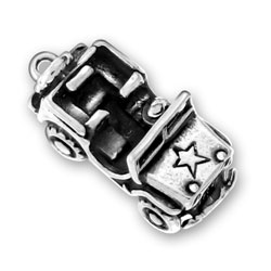 Sterling Silver 4 Wheel Drive Vehicle Charm