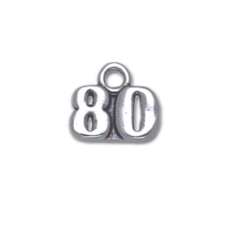 Sterling Silver 80 Charm