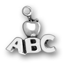 Sterling Silver ABCs with Apple Charm