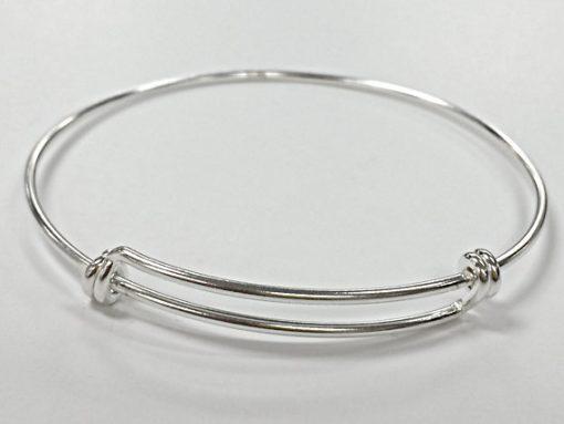 Sterling Silver Adjustable Bangle Bracelet