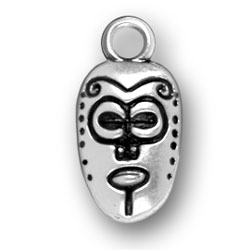 Sterling Silver African Mask Charm
