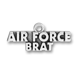Sterling Silver Air Force Brat Charm