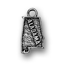 Sterling Silver Alabama Charm