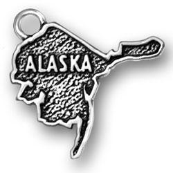 Sterling Silver Alaska Charm