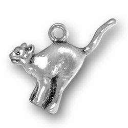Sterling Silver Alley Cat Charm