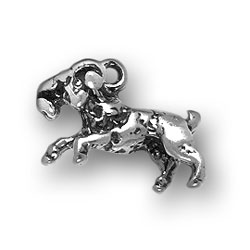 Sterling Silver Aries Ram Charm