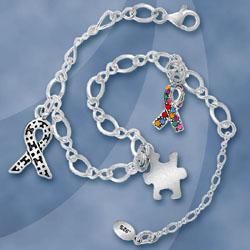 Sterling Silver Autism Bracelet