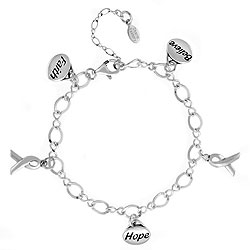 Sterling Silver Awareness Bracelet