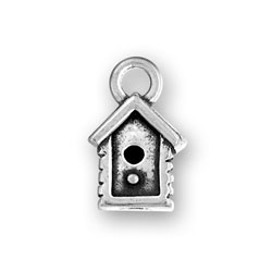 Sterling Silver Bird House Charm