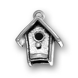 Sterling Silver Birdhouse Charm