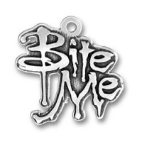 Sterling Silver Bite Me Charm