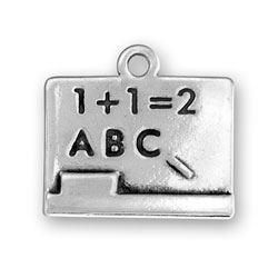 Sterling Silver Chalk Board Charm