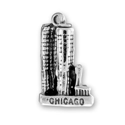 Sterling Silver Chicago Marina City Charm
