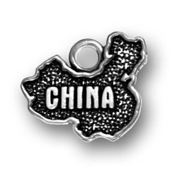 Sterling Silver China Charm