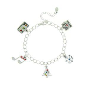 Sterling Silver Christmas Sparkle Bracelet