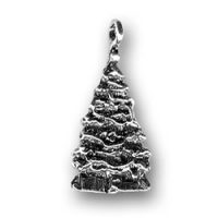 Sterling Silver Christmas Tree with Presents Charm
