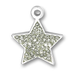 Sterling Silver Crystal Star Charm