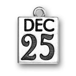 Sterling Silver December 25th Charm