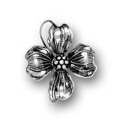 Sterling Silver Dogwood Flower Charm