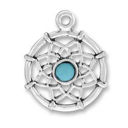 Sterling Silver Dreamcatcher Charm
