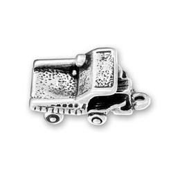 Sterling Silver Dump Truck Charm