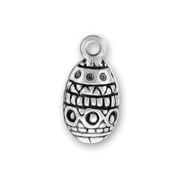 Sterling Silver Easter Egg 2 Charm