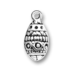 Sterling Silver Easter Egg Charm