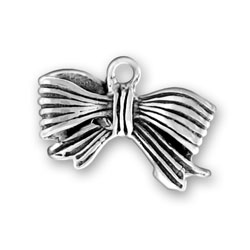 Sterling Silver Fancy Bow Charm