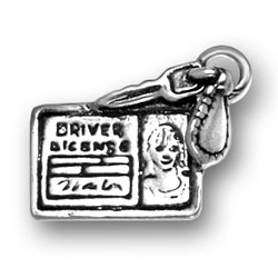 Sterling Silver Female Drivers License Charm