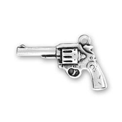 Sterling Silver Flat Gun Charm