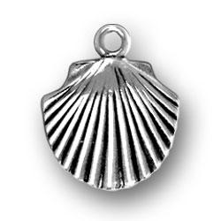 Sterling Silver Flat Seashell Charm