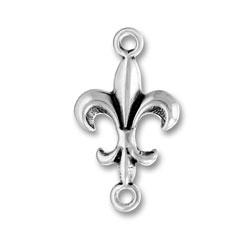 Sterling Silver Fleur de lis Link