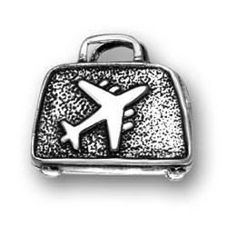 Sterling Silver Flight Bag Charm