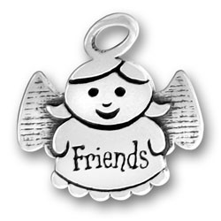 Sterling Silver Friends Angel Charm