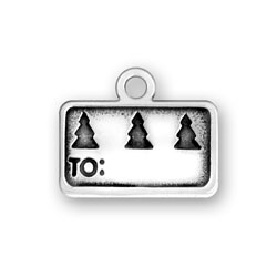 Sterling Silver Gift Tag II Charm