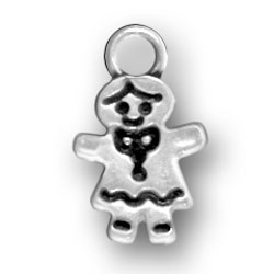 Sterling Silver Gingerbread Girl Charm